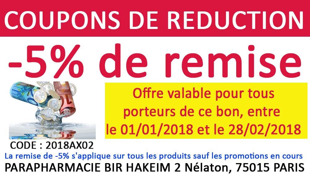 coupon de r duction parapharmacie bir hakeim paris 75015. Black Bedroom Furniture Sets. Home Design Ideas
