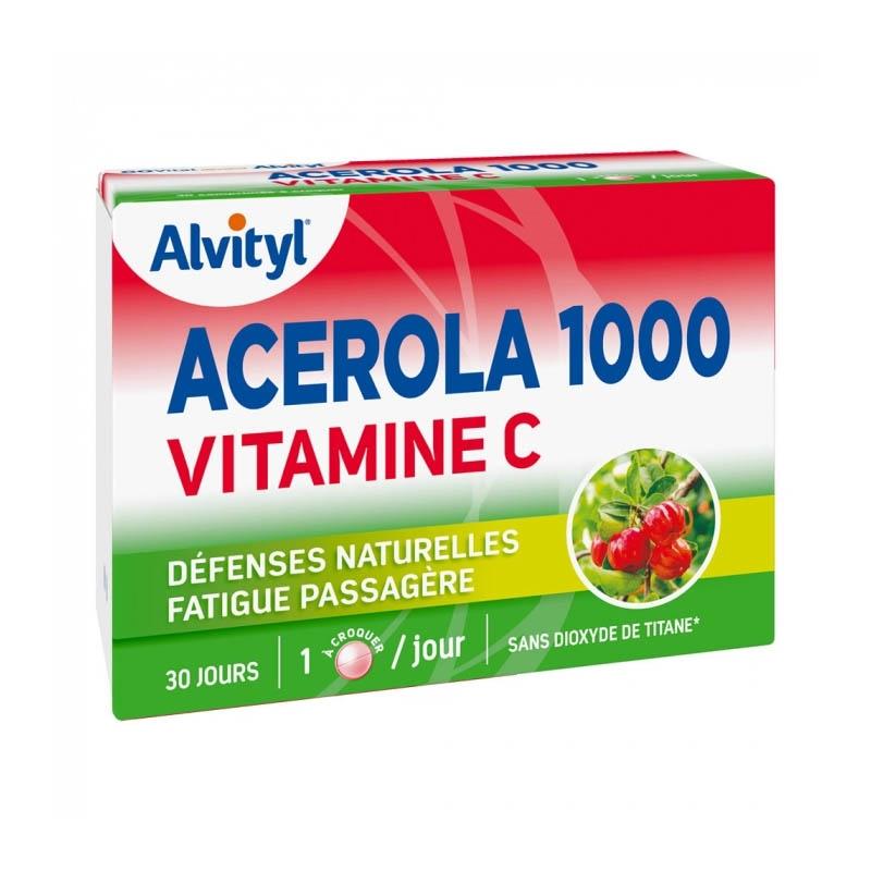 Achetez ALVITYL ACEROLA 1000 VITAMINE C Comprimé à croquer Boîte de 30