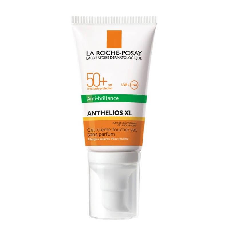 Achetez ANTHELIOS LA ROCHE POSAY SPF50+ Gel crème anti-brillance visage sans parfum Tube de 50ml