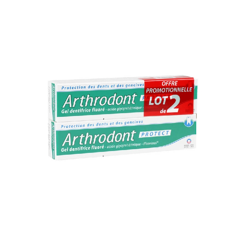 Achetez ARTHRODONT Protection Gel dentifrice fluoré 2 Tube de 75ml