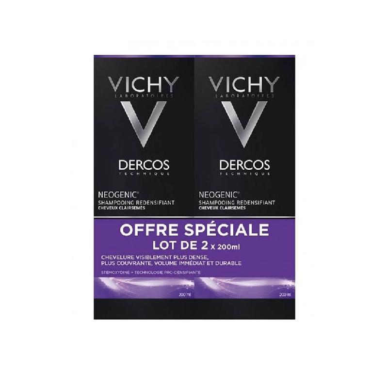 Achetez DERCOS NEOGENIC Shampooing redensifiant 2 flacon 200 ml