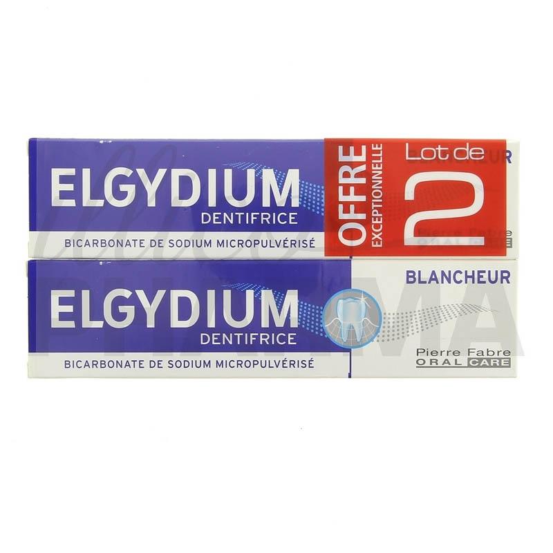 Achetez ELGYDIUM BLANCHEUR Pâte dentifrice anti-tache 2 Tube de 75ml