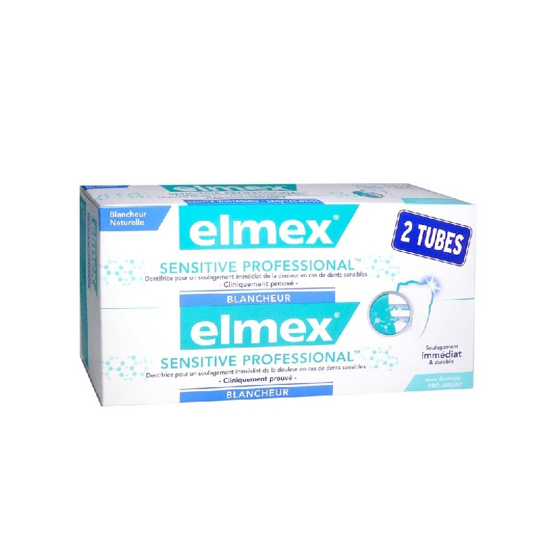 Achetez ELMEX SENSITIVE PROFESSIONAL BLANCHEUR Pâte dentifrice 2 Tube de 75ml