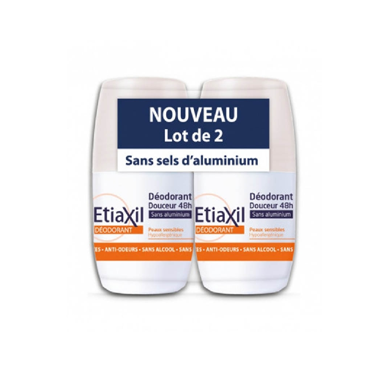 Achetez ETIAXIL Déodorant sans aluminium 2 Roll-on de 50ml