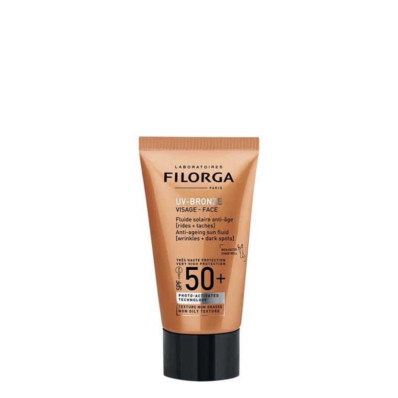 Achetez FILORGA UV-BRONZE SPF50+ Fluide solaire visage anti-âge Tube de 40ml