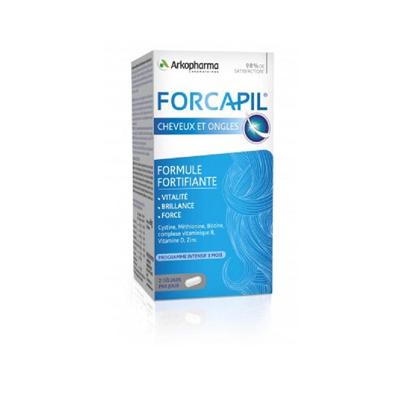 Achetez FORCAPIL FORTIFIANT Gélule cheveux et ongles Pilulier de 180+60