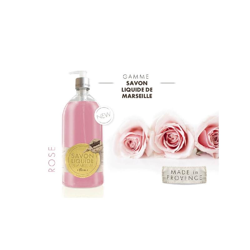 Achetez LES PETITS BAINS DE PROVENCE Savon Liquide rose Flacon Pompe de 1l