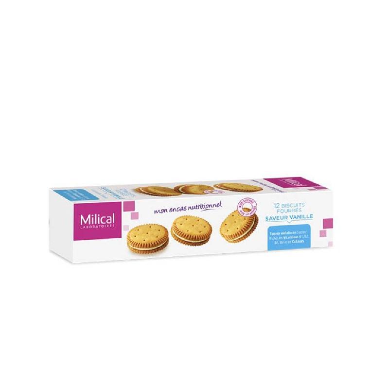 Achetez MILICAL Biscuit fourré vanille Etui de 12