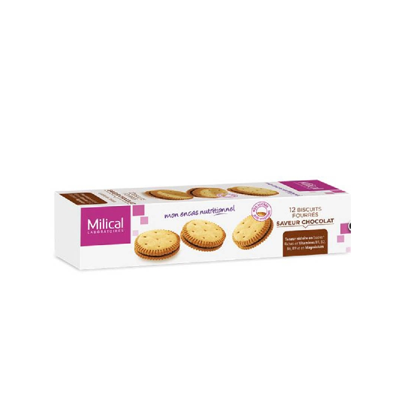 Achetez MILICAL Biscuit fourré chocolat Etui de 12