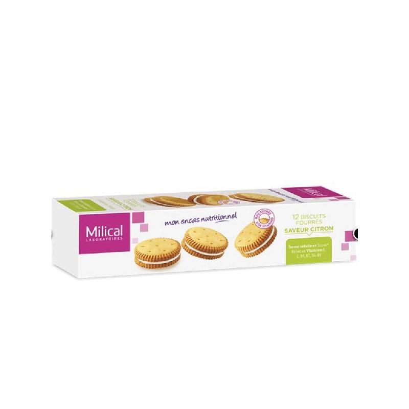 Achetez MILICAL Biscuit fourré citron Etui de 12