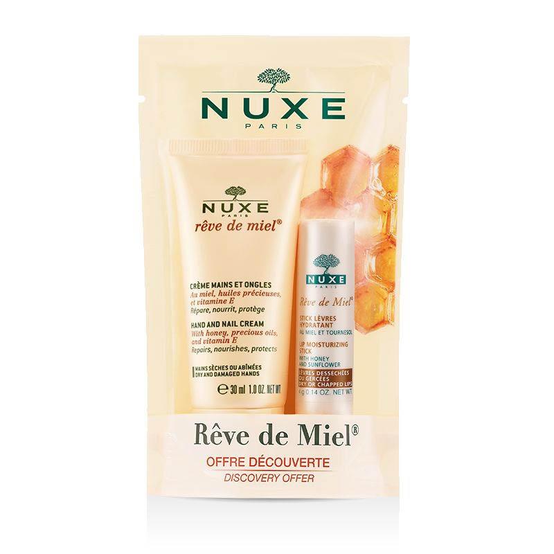 Achetez NUXE REVE DE MIEL offre découverte crème mains et stick lèvres