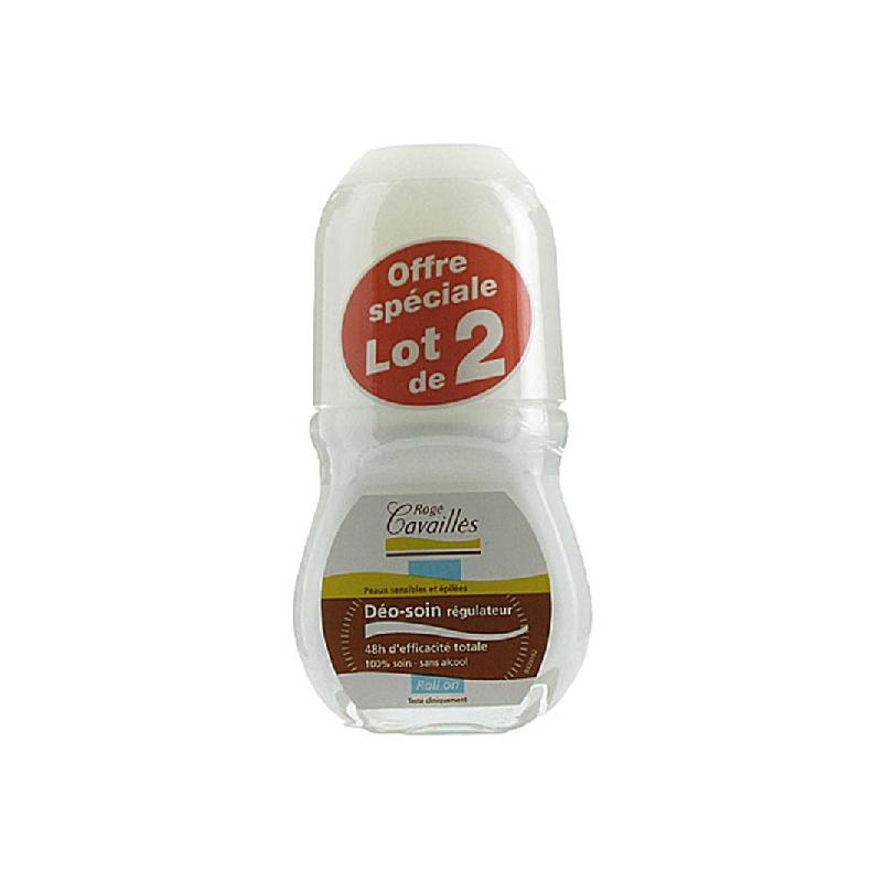 Achetez ROGE CAVAILLES DEO ABSORB + Déodorant efficacité 48h 2 Roll-on de 50ml