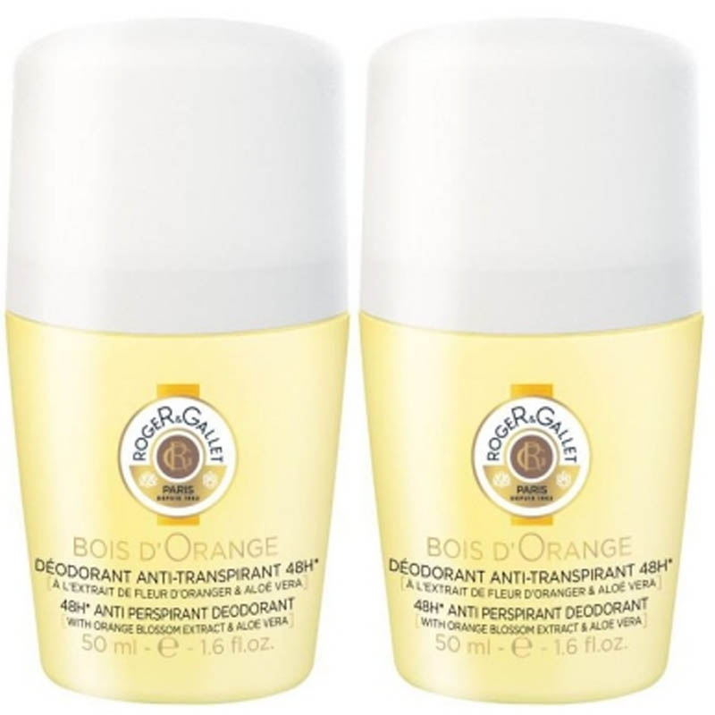 Achetez ROGER GALLET BOIS D'ORANGE Déodorant 2 Roll-on de 50ml