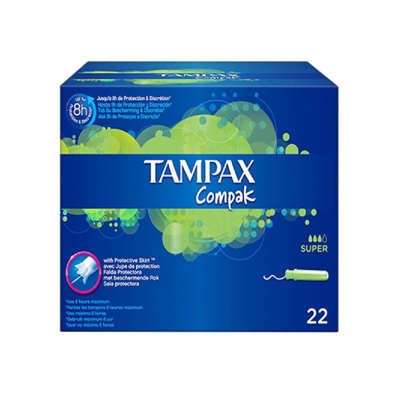 Achetez TAMPAX COMPAK Tampon périodique super Boîte de 22