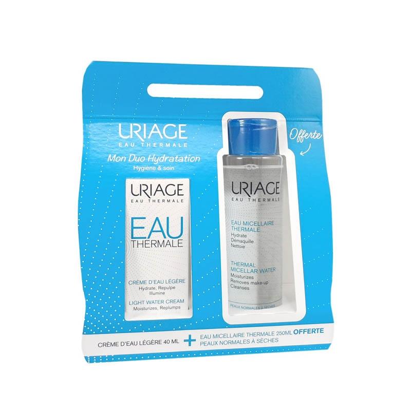 Achetez URIAGE EAU THERMALE Crème d'eau légère peau normale à mixte Tube de 40ml+Eau micellaire PNS