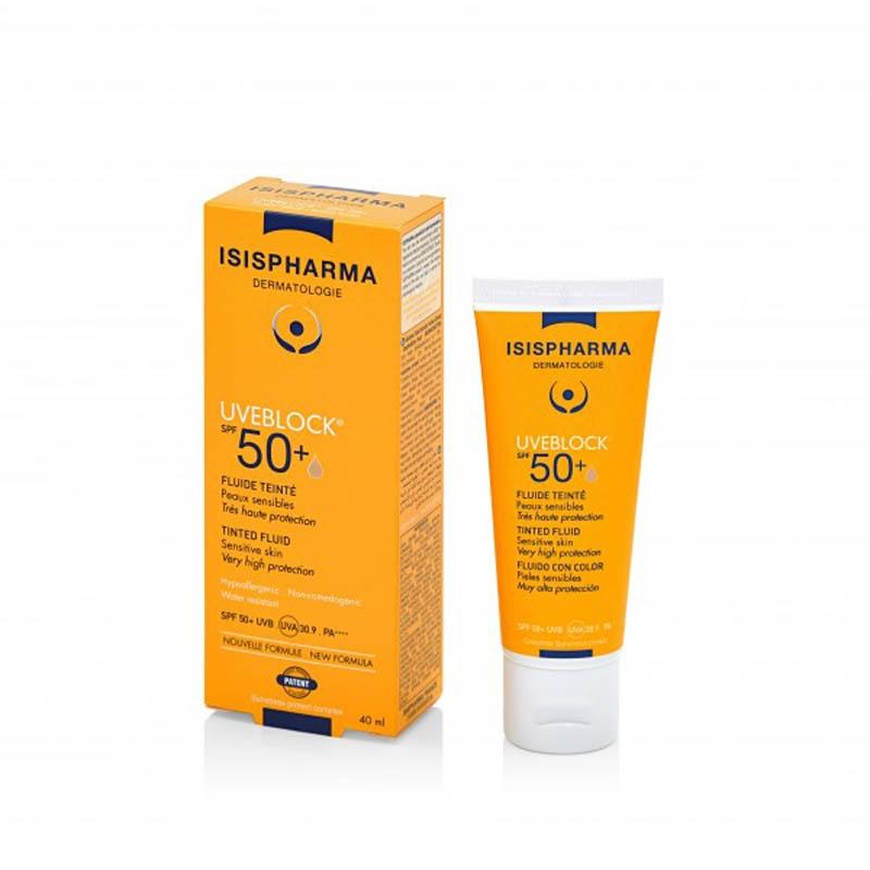 Achetez UVEBLOCK SPF50+ Fluide teinté très haute protection Tube de 40ml