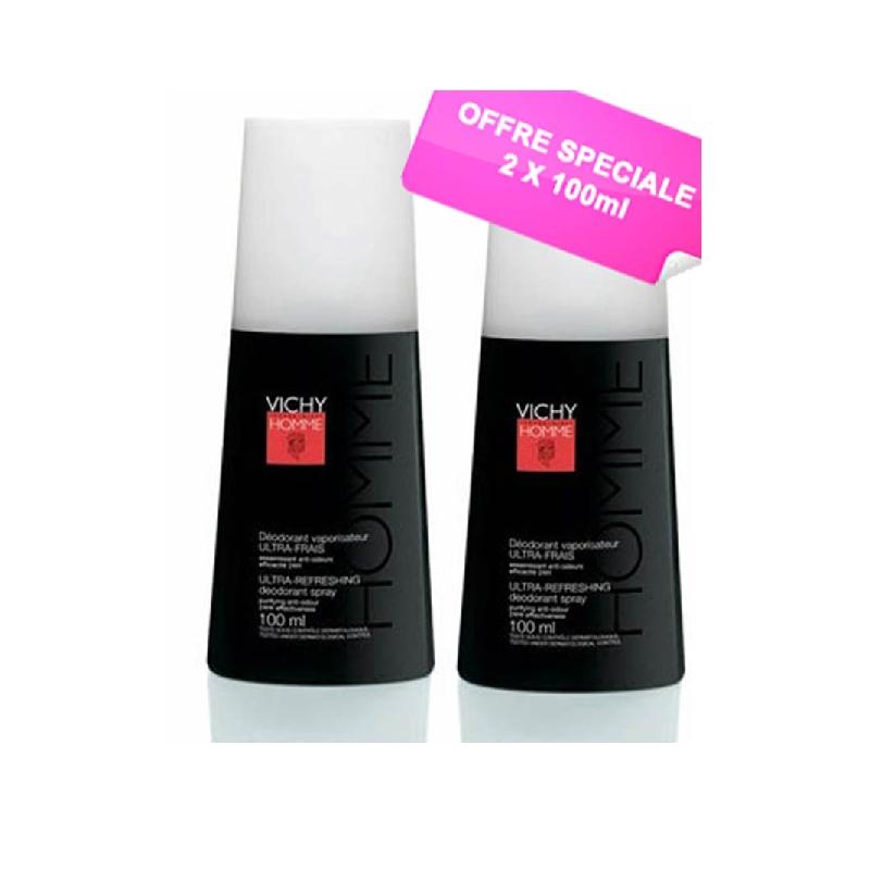 Achetez VICHY HOMME Déodorant anti-transpirant 2 Vaporisateurs de 100ml