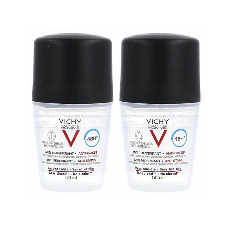 Achetez VICHY HOMME Déodorant 48H anti-irritations 2 Billes de 50ml