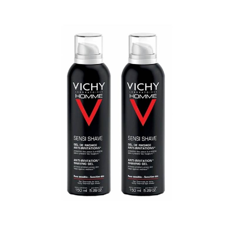 Achetez VICHY HOMME Gel de rasage peau sensible 2 Aérosol de 150ml